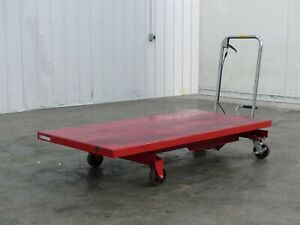 Dayton 42c18j Hydraulic Elevating Lift Cart Max Capacity 1 000