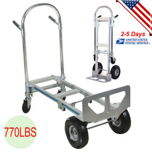 770lbs Stair Climbing Folding Hand Truck Wheels Cart Dolly Industrial Heavy Duty