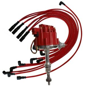 For Big Block Ford 351c 460 Hei Distributor 9 5mm Red Straight Spark Plug Wire