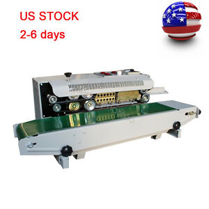500w Auto Horizontal Continuous Plastic Bag Band Sealing Sealer Machine 6 12mm