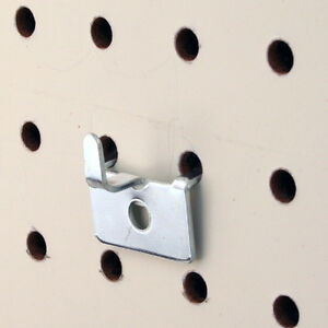 Pegboard Slatwall Utility Notch Hook Picture Hook Chrome 100 Pieces
