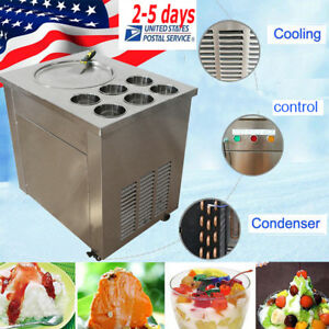 Sale Fried Ice Cream Machine Roll Ice Cream Making Machine Maker 740w 6 Boxes