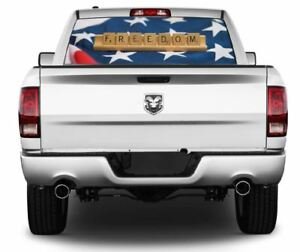 Patriotic Freedom American Flag Wrap Rear Window Graphics Decal Sticker 129