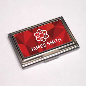 Personalised Business Card Holder Colour Printed Sublimation