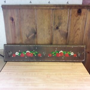 Vintage Handmade Wood Wall Coat Hat Rack From Old Time Farm Auction B E