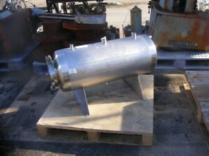 15 Gallon Stainless Steel Pressure Vessel Tank Rated 75 Psi 100 Degf