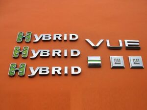 2008 2009 2010 Saturn Vue Hybrid Side Door Rear Emblem Logo Badge Set 08 09 10