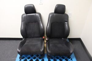 Jdm 1997 2001 Honda Prelude Sir Oem Leather Cloth Seat Set Front And Rear Bench