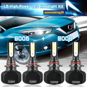 9005 9006 Led Headlight Kit Hi Lo Beam Bulbs For Gmc Sierra 1500 2500 Hd 2001 06