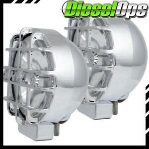Anzo Usa Universal 6 Round Hid Off Road Light Chrome 2 Piece W Lens Protector