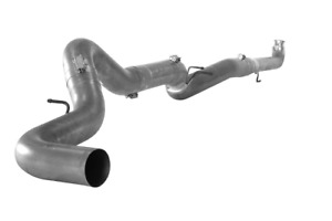Flo pro 5 Downpipe back Ss Single Exhaust W o Muffler For Gm Duramax 2001 2007