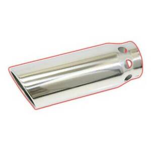Flo Pro Rolled Angle Vented Diesel Tip Stainless 4 In 5 Out 14 Long
