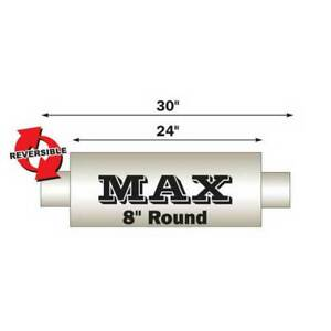 Flo Pro Max 8 Round Muffler Center Dual 4 In 4 Out 30 Long