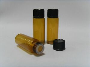 5ml Amber Glass Vials W Screw Lid Stopper brand New Small Bottles