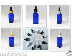 264pcs 1oz 30ml Blue Glass Eye Dropper Bottles For Essential Oils wholesale Pack