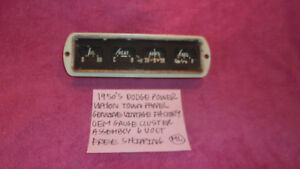 1950 S Dodge Power Wagon Town Panel Genuine Gauge Cluster Assembly Free Shipping