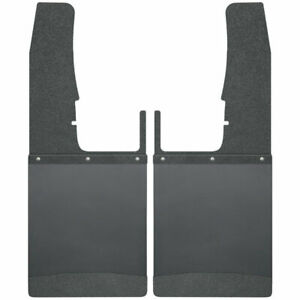 Kick Back Mud Flaps Frnt 12 w Blk W blk Top Wght For Ram 1500 2500 3500 09 19