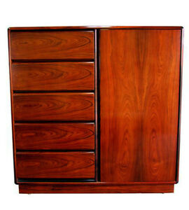 Mid Century Modern Danish Modern Rosewood Chest Of Drawers By Brouer Mcm Vintage