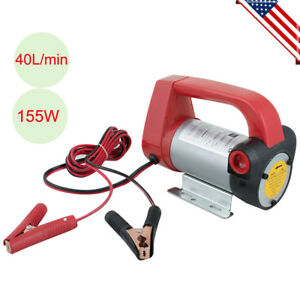 Dc 12v Electric Diesel Oil Fuel Transfer Extractor Pump Motor 40l min 155w New