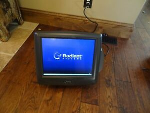 Radiant Systems P1520 Pos Touch Screen Cash Terminal With Credit Card Reader
