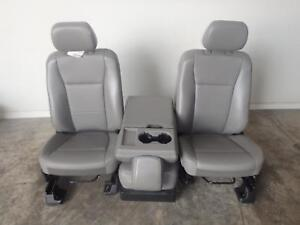 17 18 Ford F250 Super Duty Front Seats W Console Oem New Takeout F350