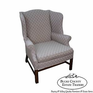 Quality Chippendale Style Wing Chair