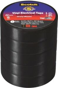 3m Scotch Vinyl Electrical Tape Commercial Flexible 3 4 In X 66 Ft 700 Case Of 6