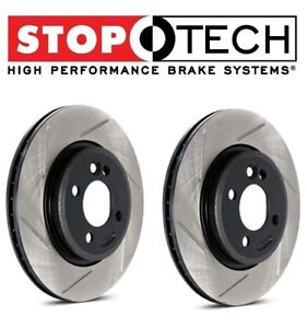 For Mustang Cobra Pair Of Front Left Right Slotted Brake Disc Rotors Stoptech