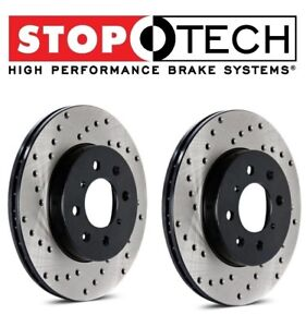 For Mustang Cobra Pair Set Of Front Left Right Drilled Brake Disc Rotors