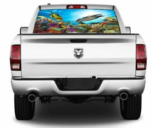 Tropical Ocean Reef Wrap Rear Window Graphics Decal Sticker 140