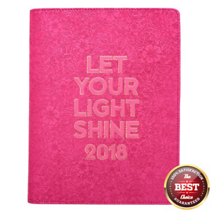 2018 Daily Planner With Zipper Light Shine