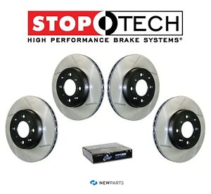 For Ford Mustang Cobra 94 04 Front Rear Slotted Brake Disc Rotors Kit Stoptech