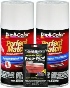 Duplicolor Super White Ii Toyota Paint Code 040 8 Oz 2 Pack Wipe