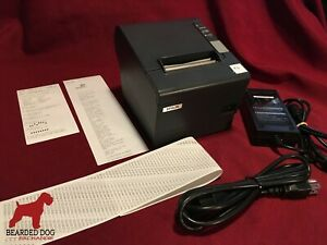 Epson Tm t88iv Pos Usb Thermal Receipt Printer M129h W ps 180 Power Usb Cords