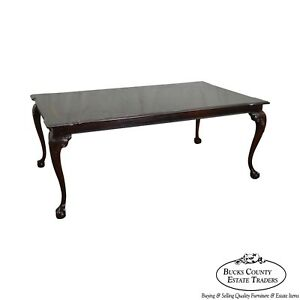 Thomasville Mahogany Chippendale Style Ball Claw Foot Expandable Dining Table