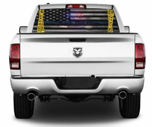 Back The Blue Blue Lives Matter Wrap Rear Window Graphics Decal Sticker 142