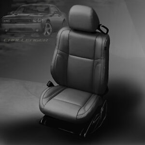 2015 2016 2017 2018 Dodge Challenger Sxt Rt Sport Black Katzkin Leather Seat Kit