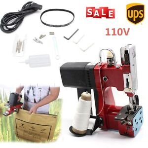 110v Industrial Electric Bag Cloth Stitching Closer Seal Sewing Machine Portable