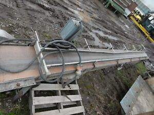 Stainless Steel Conveyor 16 Ft X 8 Motor And Cable
