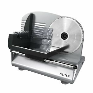 Electric Meat Slicer Heavy Duty Steel Restaurant Deli Food Cheese Cutter Slicer