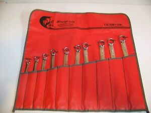 Snap on new Metric Combination Wrench Set With Bag 10mm 19mm 10