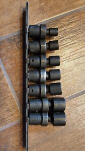 Snap On 3 8 Drive 6 Point Sae Flank Drive Shallow Impact Swivel Socket 7 Piece