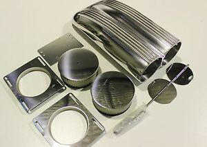 Shot Gun Scoop Finned Alloy Air Cleaner Filter Single Dual Carb Muscle Car