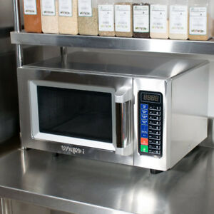 New Waring Wmo90 Stainless Steel Commercial Microwave With Push Button Controls