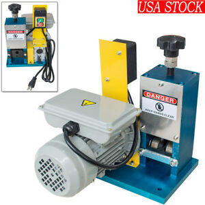 110v Portable Powered Electric Wire Stripping Machine Tool Cable Stripper 0 18kw
