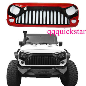 Red Angry Bird Front Grille Hood For 07 17 Jeep Wrangler Jk Unlimited Ca