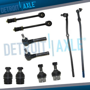 10pc Front Suspension Inner Outer Tie Rod Ball Joint Kit 92 97 Ford F