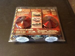 Custer Products Towing Lights Magnetic Base 20 Foot Cord