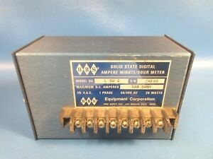 Used Hbs Equipment Corp L50c 50a 50mv Digital Ampere Minute hour Meter