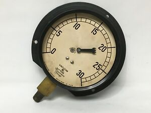 Steampunk Marsh Pressure Gauge 4 3 4 Face 0 30 Psi Parts Craft Diy Vintage Used